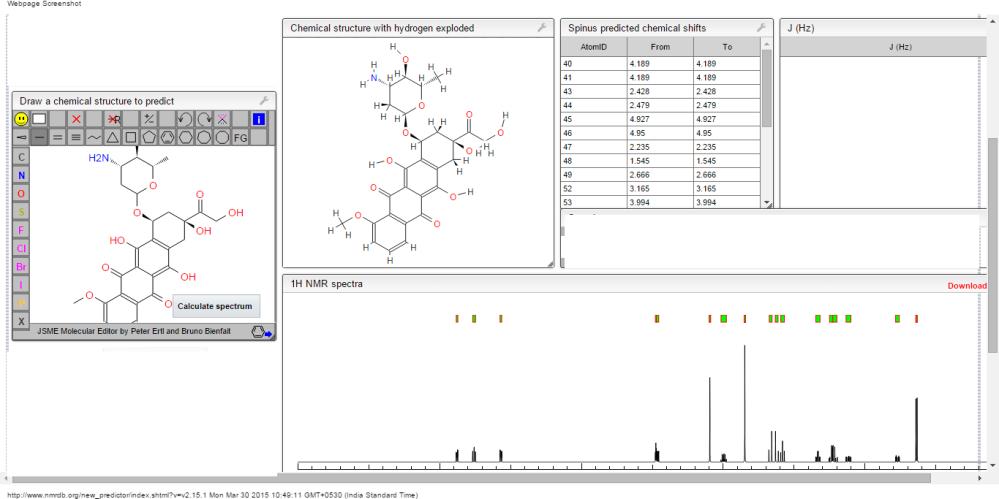 1H  NMR prediction EPI 2