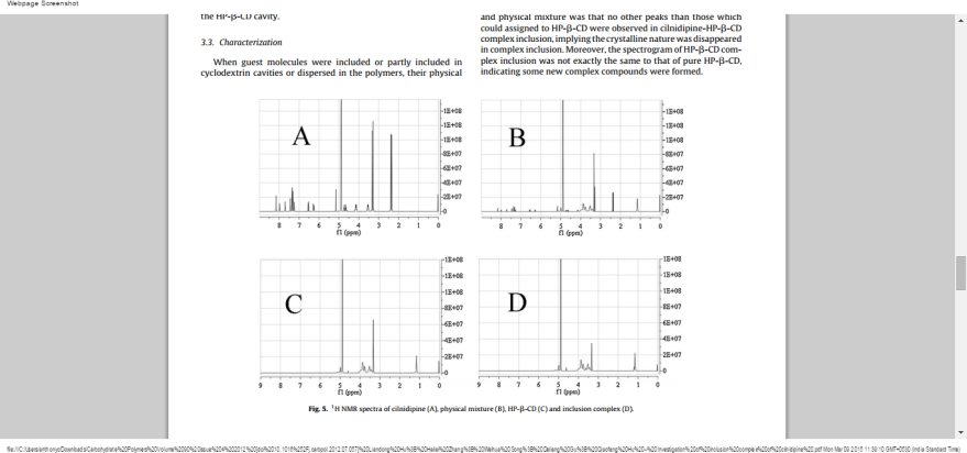 CILNIDIPINE NMR