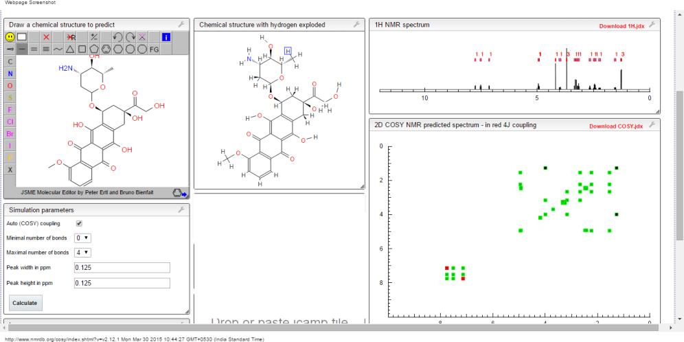 COSY NMR prediction EPI