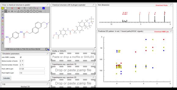 HMBC, HSQC NMR prediction