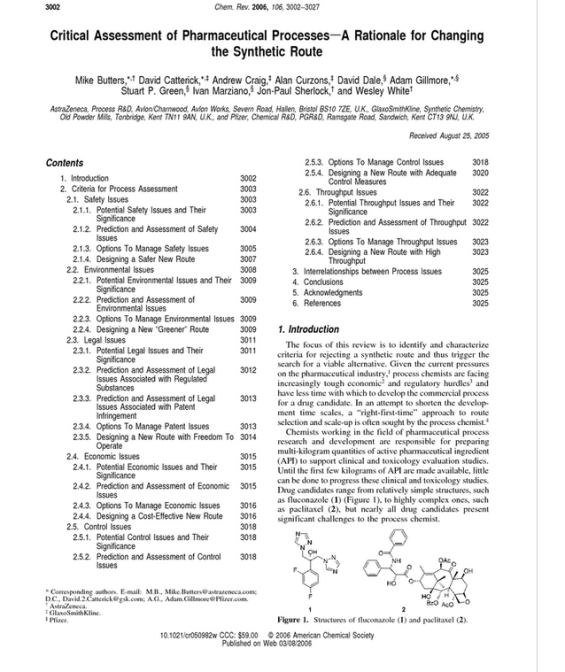 Changing the Synthetic Route - Chemical Reviews  ACS Publications -    --