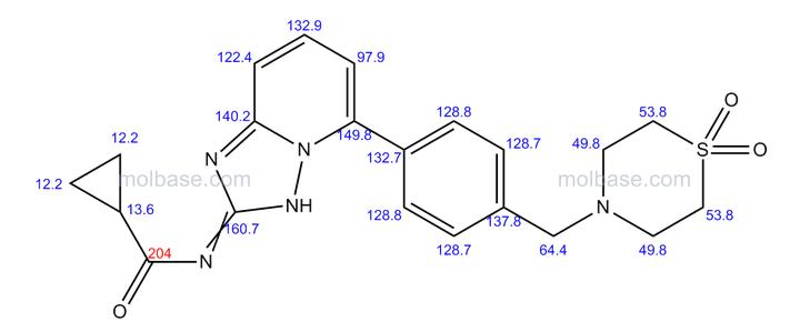 13C NMR MOLBASE VAL
